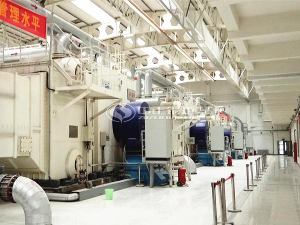 为郑州火车站提供热源保障的多台中正SZS系列燃气锅炉